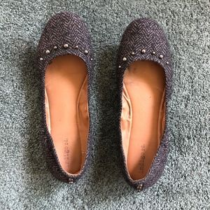 indigo rd. Studded, Black/Grey Pattern, Flats 8.5